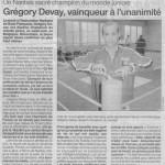 Septembre 2003 - Gregory Devay
